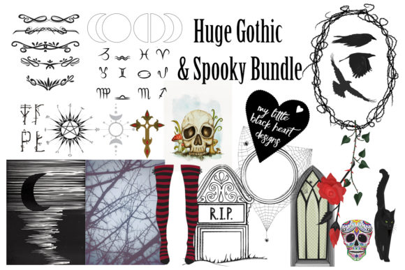 Gothic and Spooky Collection  By My Little Black Heart