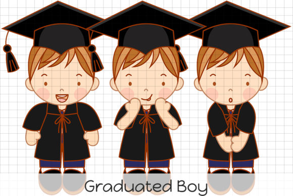 Graduated Boy Graphic Illustrations By Dolls To Go