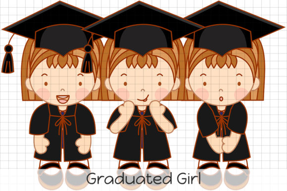 Download Free Graduated Girl Graphic By Dolls To Go Creative Fabrica for Cricut Explore, Silhouette and other cutting machines.