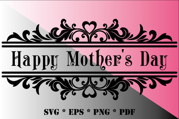 Download Free Happy Mother S Day Black White Decorative Graphic By for Cricut Explore, Silhouette and other cutting machines.