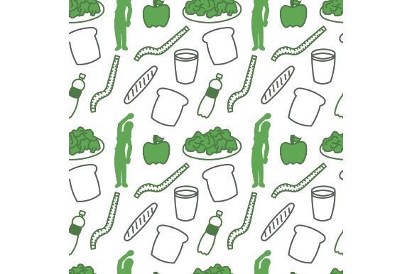 Download Free Healthy Foods Seamless Pattern Graphic By Firdausm601 Creative for Cricut Explore, Silhouette and other cutting machines.