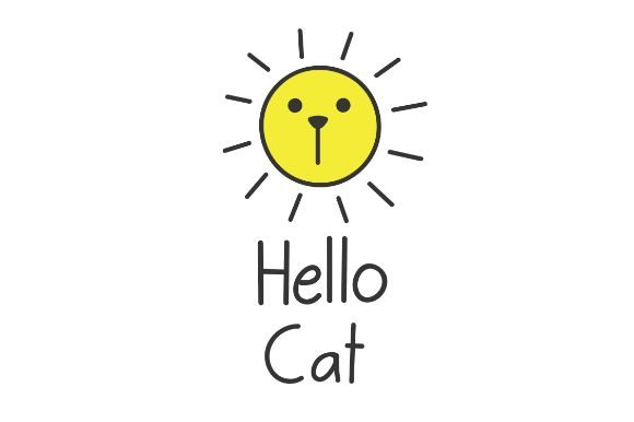Hello Cat Hello Summer Funny Cat Face Graphic By Firdausm601 Creative Fabrica