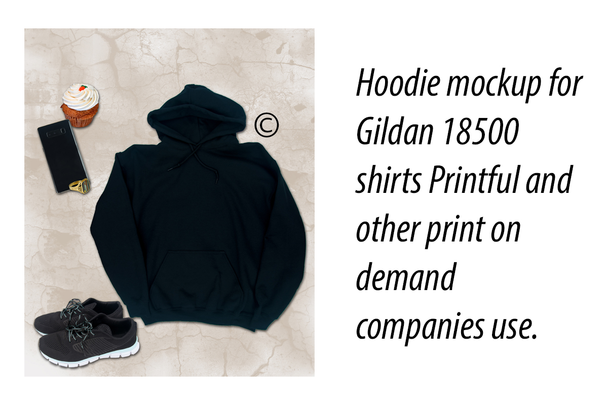 Download Free Hoodie Mockup For Gildan 18500 Shirts Graphic By A Design In SVG Cut Files