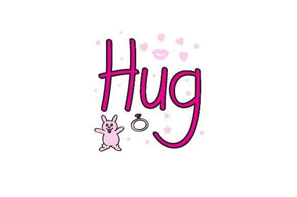 Download Free 45 Hug Designs Graphics for Cricut Explore, Silhouette and other cutting machines.