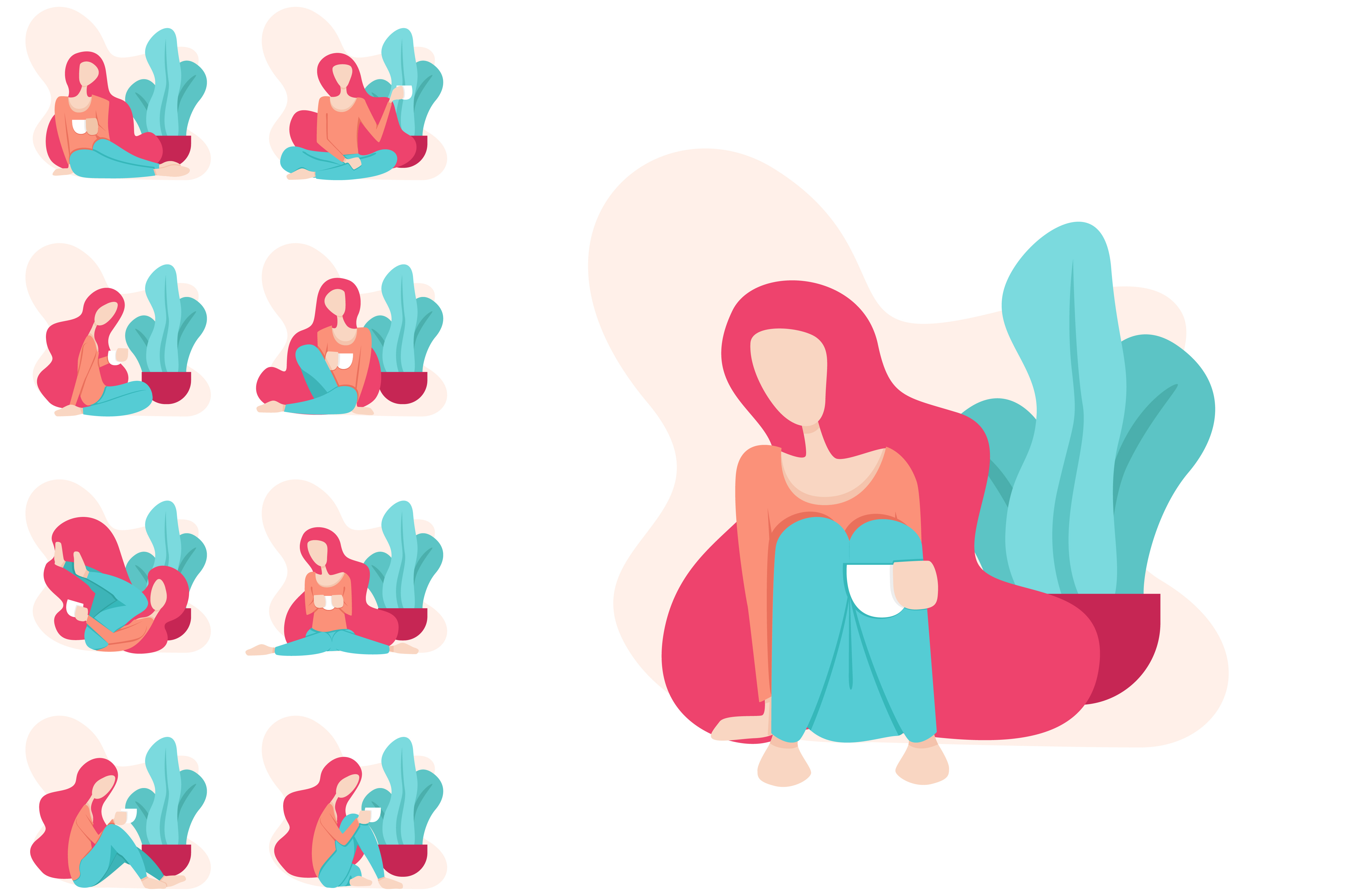 Download Free Illustration Of A Woman Relaxing Graphic By Setiawanarief111 for Cricut Explore, Silhouette and other cutting machines.