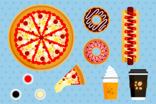 Print on Demand: Illustration Set of Pizza Orders Graphic Illustrations By setiawanarief111