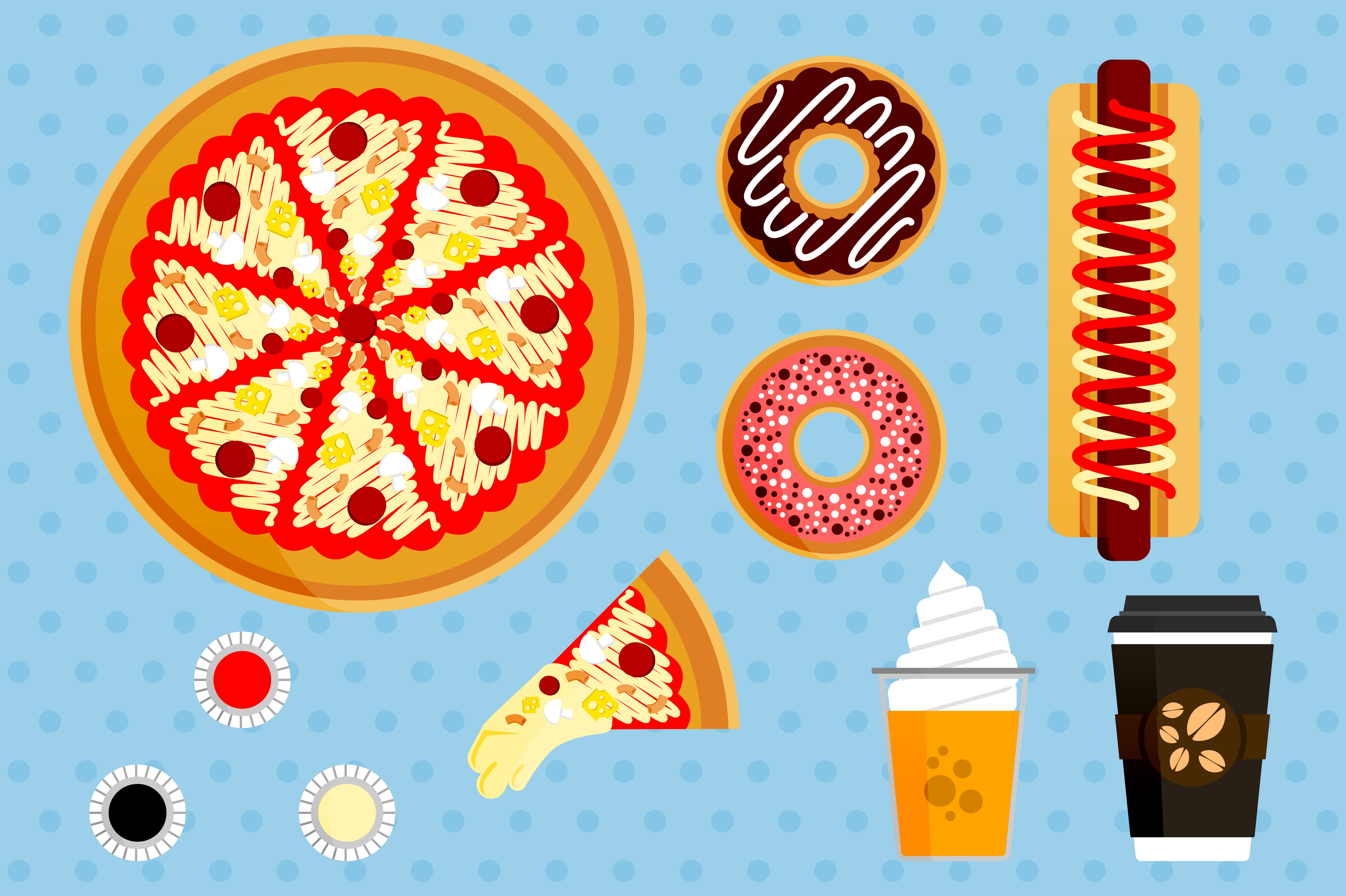 Download Free Illustration Set Of Pizza Orders Graphic By Setiawanarief111 for Cricut Explore, Silhouette and other cutting machines.