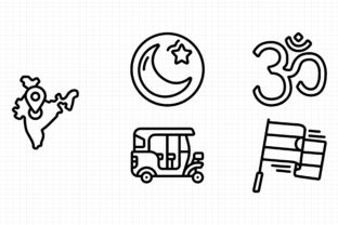 India Graphic Icons By dedekalianak06