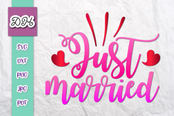 Download Just Married Sign Newlyweds Print & Cut