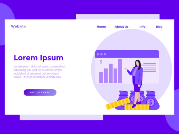 Download Free Landing Page Finance Women Chart Purple Grafico Por Archshape for Cricut Explore, Silhouette and other cutting machines.