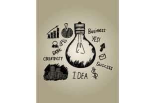 Download Free Light Bulb Business Idea Graphic By Firdausm601 Creative Fabrica for Cricut Explore, Silhouette and other cutting machines.