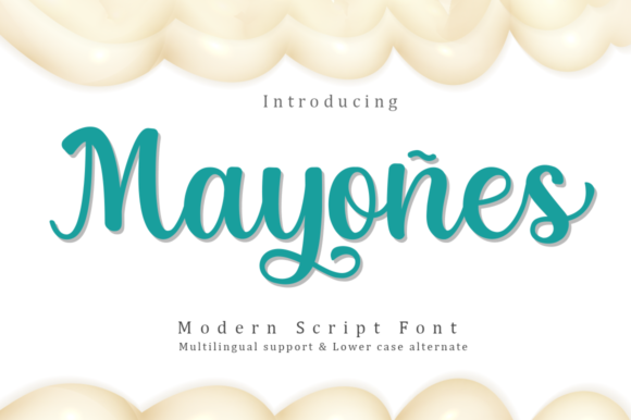 Print on Demand: Mayones Script & Handwritten Font By Manjalistudio