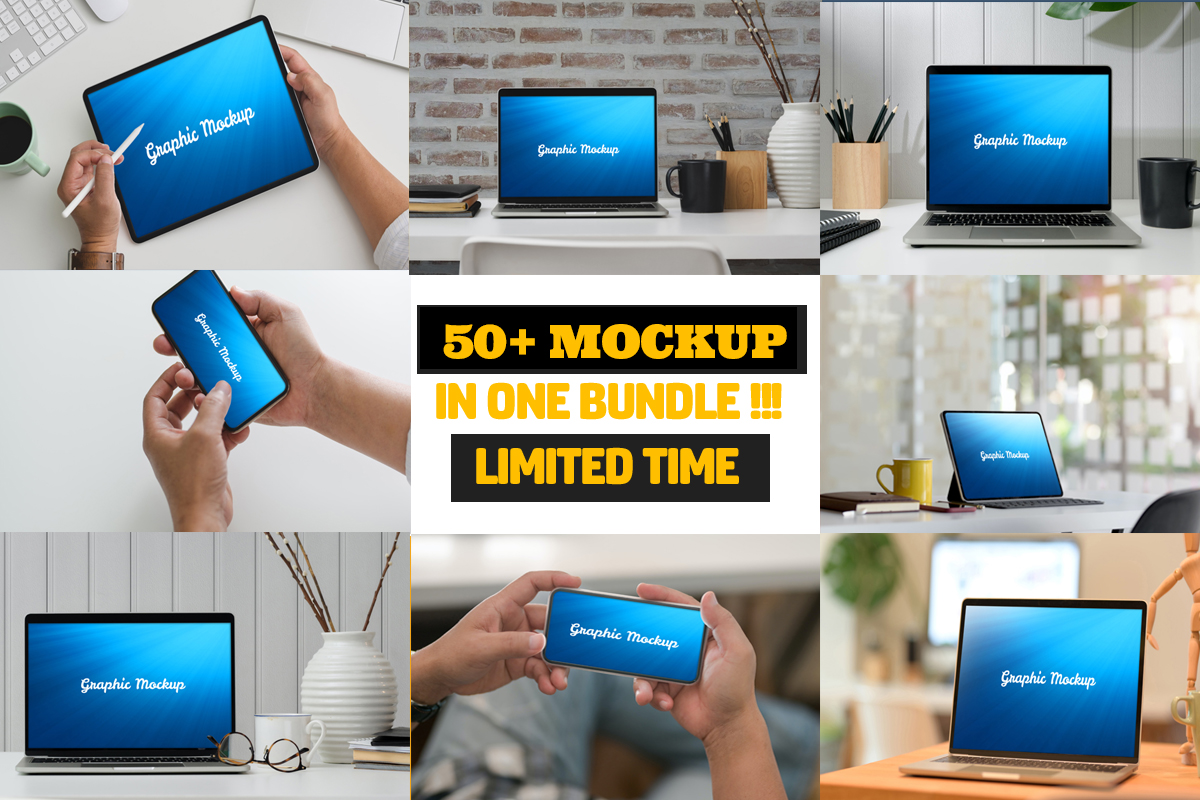 Download Free Mock Up Bundle Bundle Creative Fabrica for Cricut Explore, Silhouette and other cutting machines.