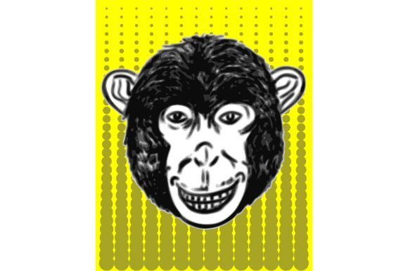 Download Free Monkey Smile Hand Drawn Vector Art Graphic By Firdausm601 for Cricut Explore, Silhouette and other cutting machines.
