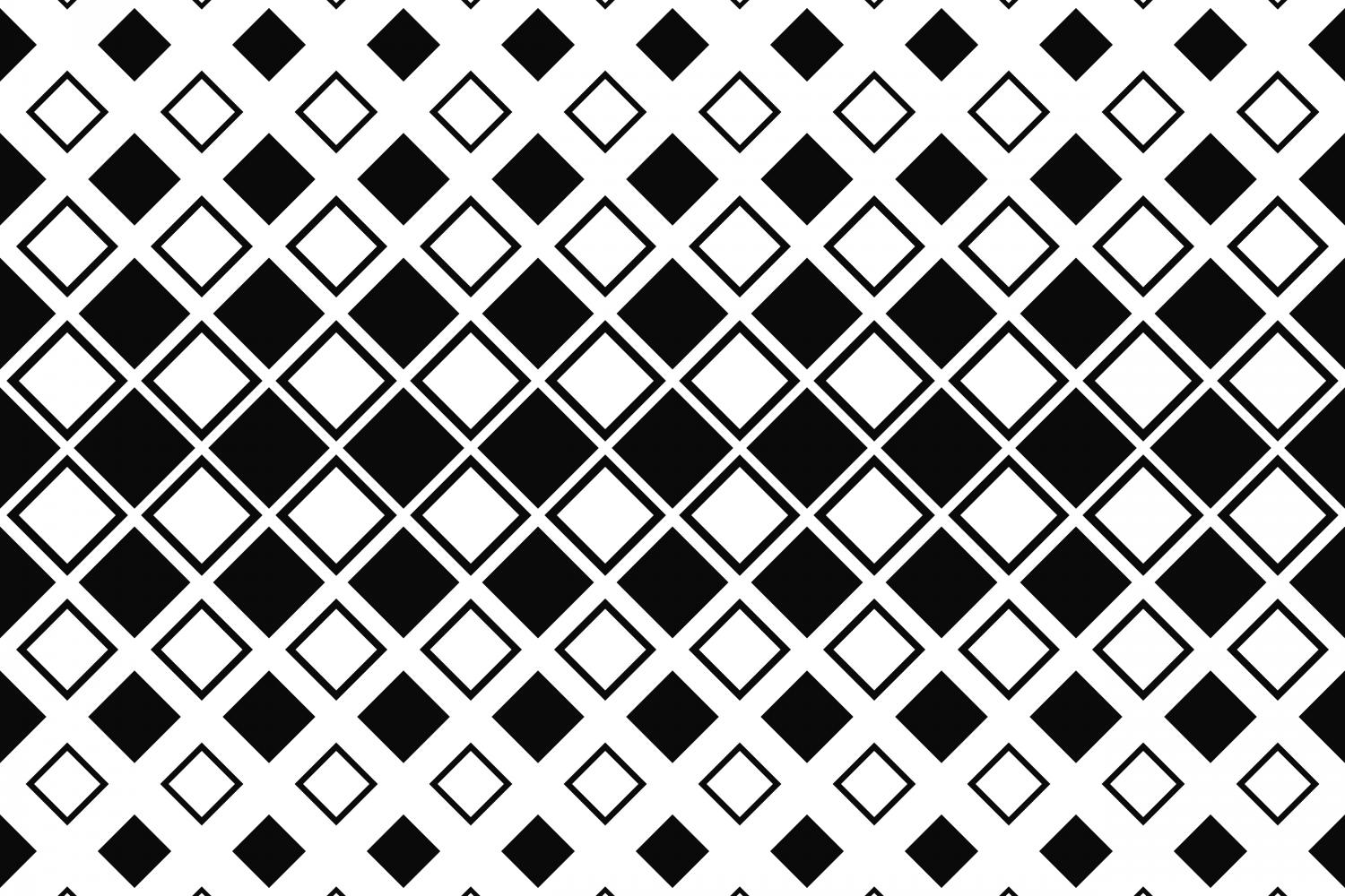 Download Free Monochrome Square Pattern Graphic By Davidzydd Creative Fabrica for Cricut Explore, Silhouette and other cutting machines.