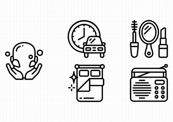 Morning Routine Graphic Icons By dedekalianak06