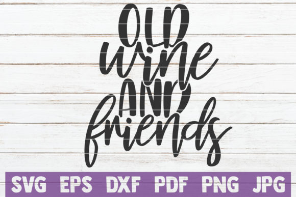 Download Free Old Wine And Friends Graphic By Mintymarshmallows Creative Fabrica SVG Cut Files