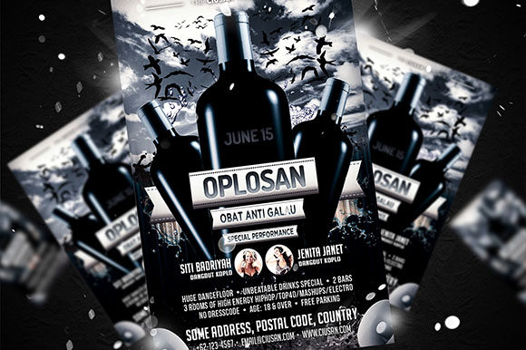 Download Free Oplosan Flyer Template Graphic By Ciusan Creative Fabrica for Cricut Explore, Silhouette and other cutting machines.