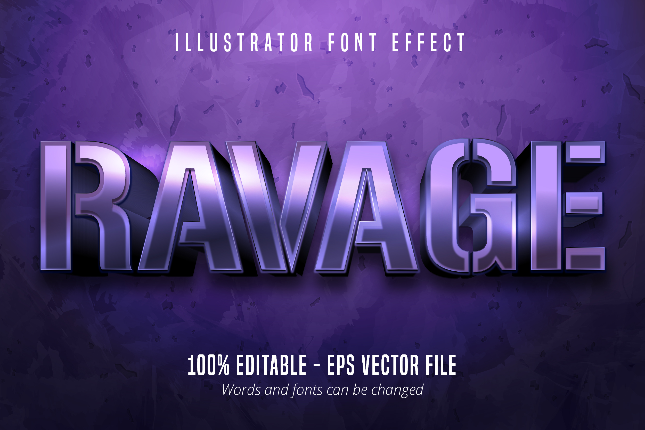 Download Free Purple Metallic Editable Font Effect Graphic By Mustafa Beksen for Cricut Explore, Silhouette and other cutting machines.