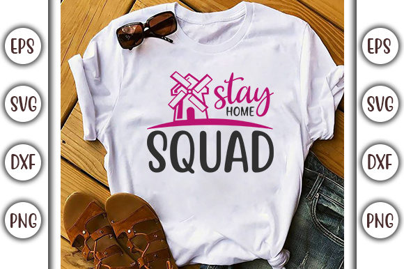 Download Free Quarantine Design Stay Home Squad Graphic By Graphicsbooth for Cricut Explore, Silhouette and other cutting machines.