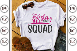 Print on Demand: Quarantine Design, Stay Home Squad Graphic Print Templates By GraphicsBooth