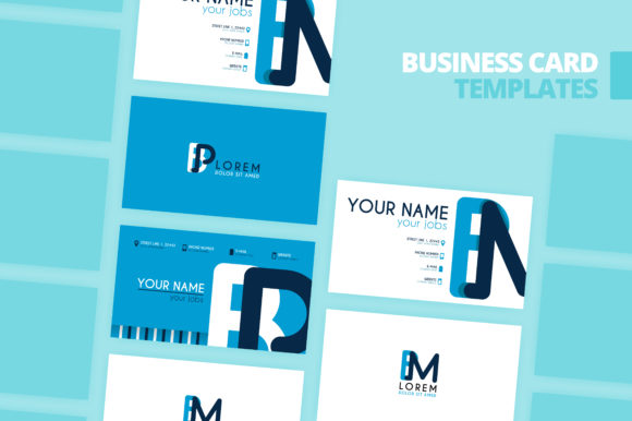 Print on Demand: Simple Identity and Business Card Design Graphic Print Templates By setiawanarief111