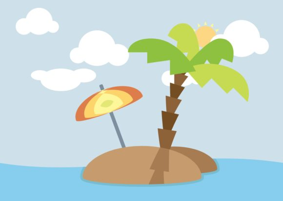Download Free Small Island Graphic By Studioisamu Creative Fabrica for Cricut Explore, Silhouette and other cutting machines.