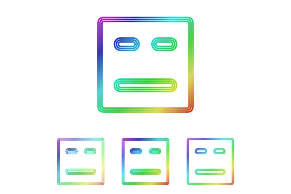 Download Free Squared Face Icon Set Graphic By Davidzydd Creative Fabrica for Cricut Explore, Silhouette and other cutting machines.