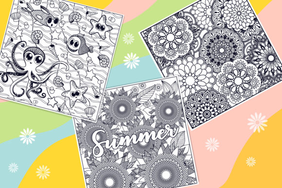 Print on Demand: Summer Coloring Bundle  Graphic Coloring Pages & Books Kids By tatiana.cociorva - Image 2