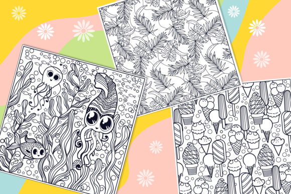 Print on Demand: Summer Coloring Bundle  Graphic Coloring Pages & Books Kids By tatiana.cociorva - Image 4