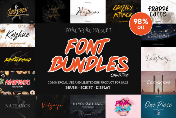 Print on Demand: The Font Bundle by Rometheme  By rometheme