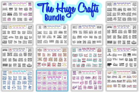 Print on Demand: The Huge Crafts Bundle  By GraphicsBooth