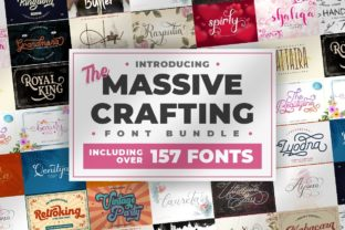 Print on Demand: The Massive Crafting Font Bundle  By putracetol