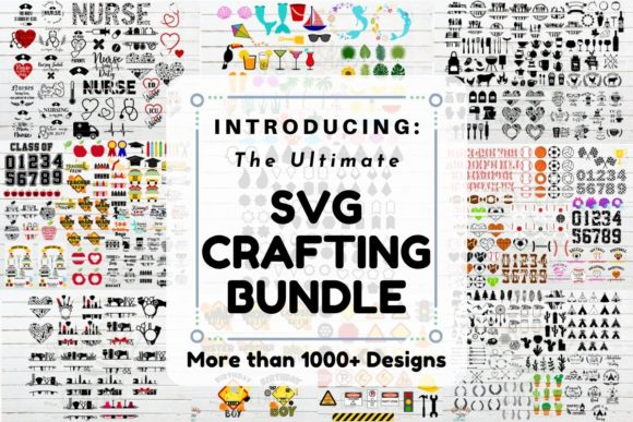 The Ultimate SVG Crafting Bundle  By redearth and gumtrees