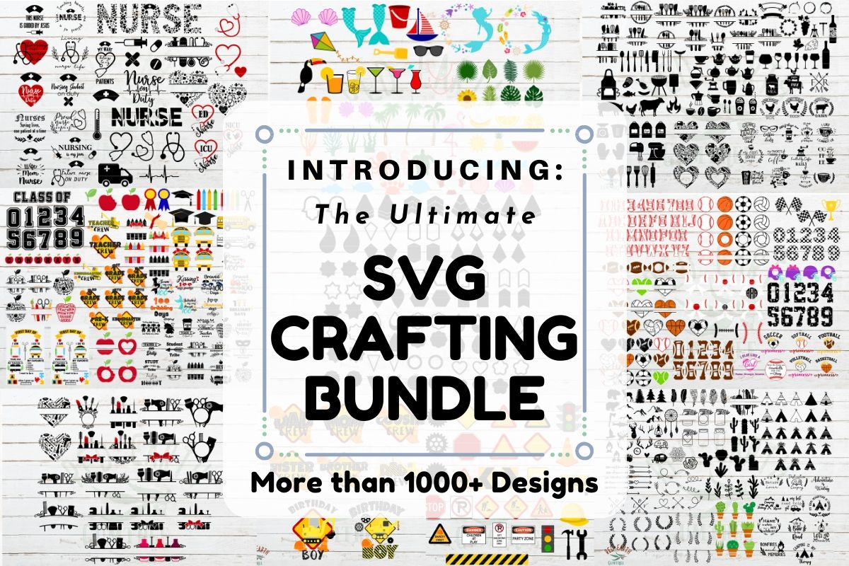 Download Free The Ultimate Svg Crafting Bundle Bundle Creative Fabrica for Cricut Explore, Silhouette and other cutting machines.