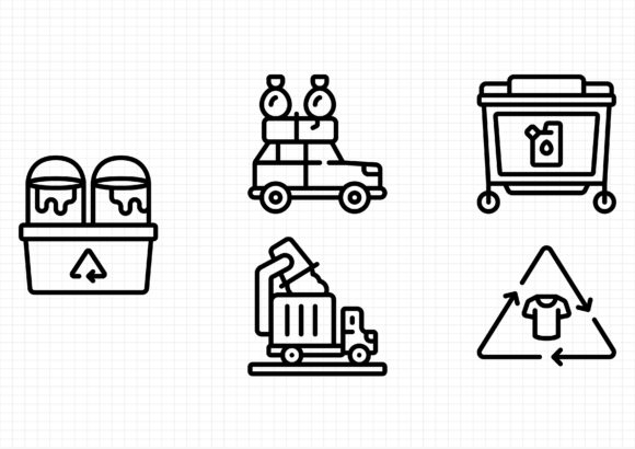 Trash Graphic Icons By dedekalianak06