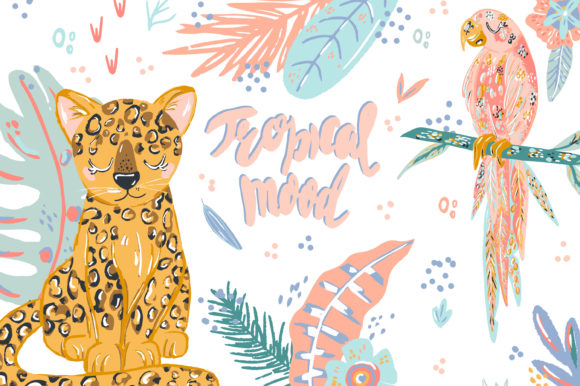 Print on Demand: Tropical Mood Graphic Illustrations By Zolotovaillustrator