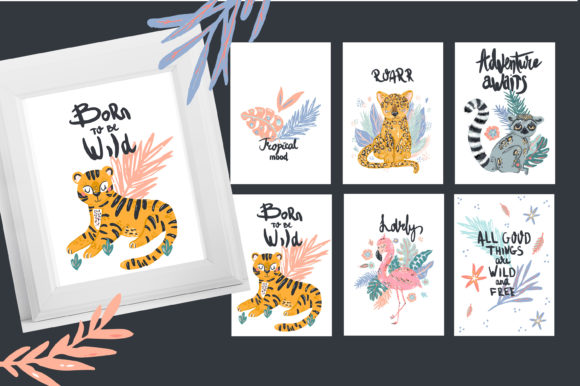 Download Free Tropical Mood Graphic By Zolotovaillustrator Creative Fabrica for Cricut Explore, Silhouette and other cutting machines.