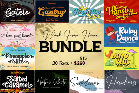 Print on Demand: Work from Home Bundles  By LetterBeary