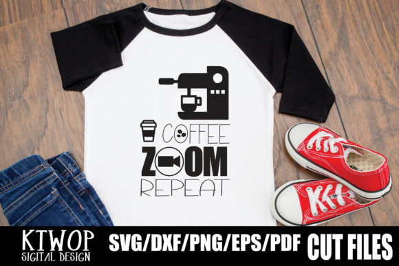Download Free Coffee Zoom Repeat Graphic By Ktwop Creative Fabrica for Cricut Explore, Silhouette and other cutting machines.
