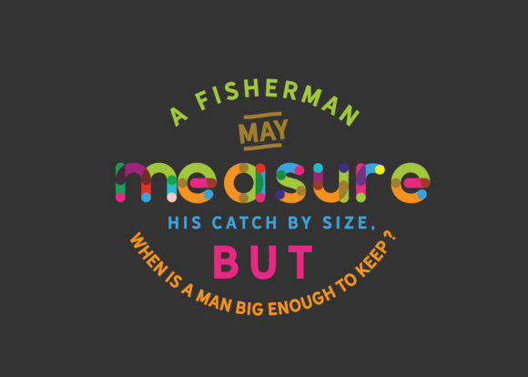 Download Free A Fisherman May Measure His Catch Graphic By Baraeiji Creative for Cricut Explore, Silhouette and other cutting machines.