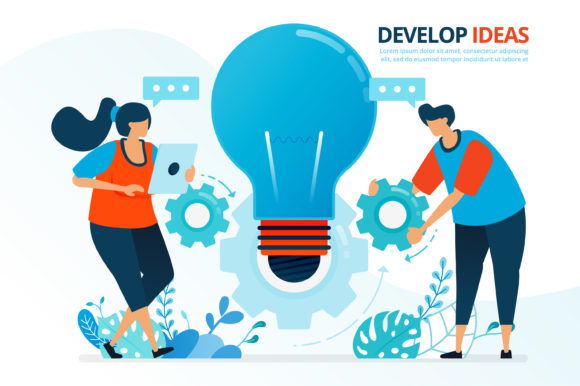 Download Free Developing Ideas And Collaboration Graphic By Setiawanarief111 for Cricut Explore, Silhouette and other cutting machines.