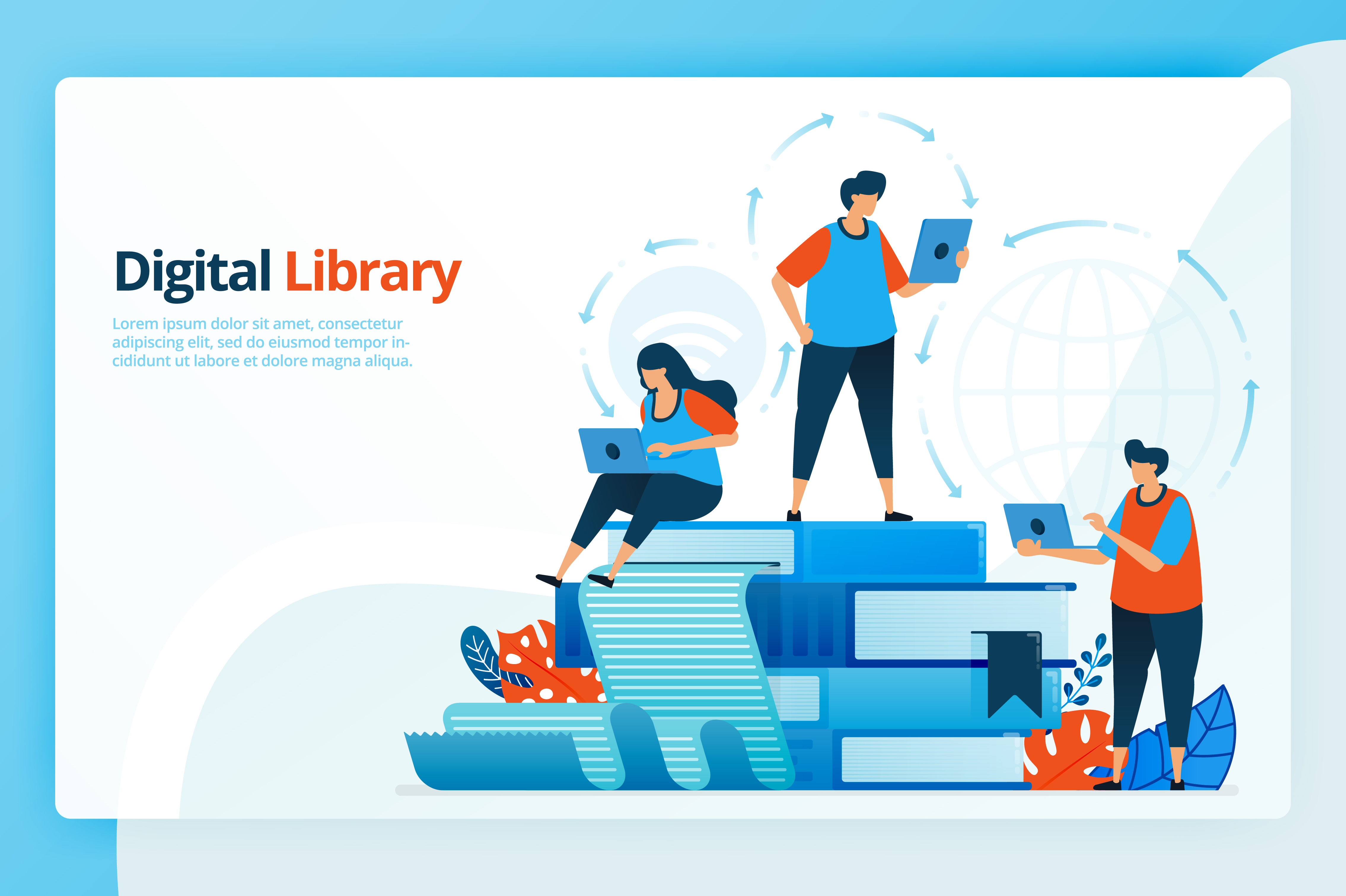 Download Free Illustration Of Digital Libraries Graphic By Setiawanarief111 for Cricut Explore, Silhouette and other cutting machines.