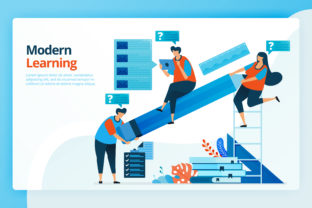 Print on Demand: Internet Based Modern Learning Graphic Landing Page Templates By setiawanarief111