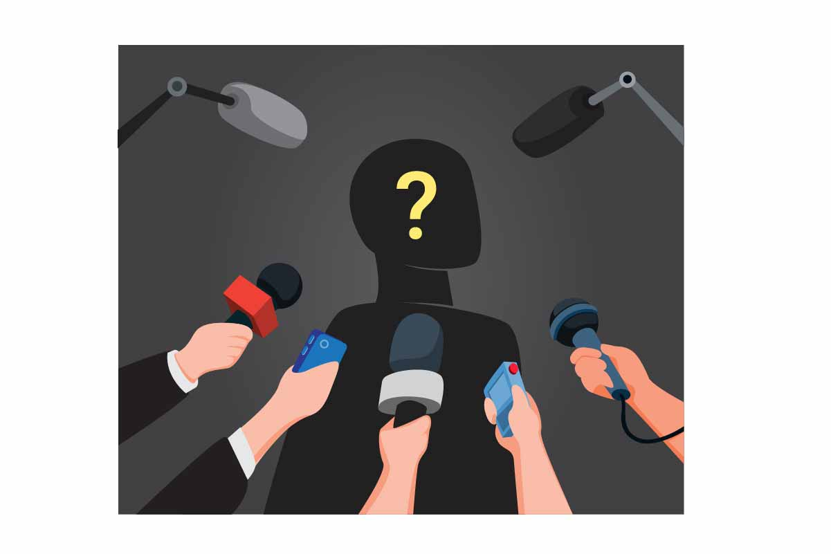 Download Free Journalist Interview Mysterious People Graphic By Aryo Hadi SVG Cut Files