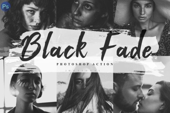 Download Free 6 Black Fade Photoshop Actions Acr Lut Graphic By 3motional for Cricut Explore, Silhouette and other cutting machines.