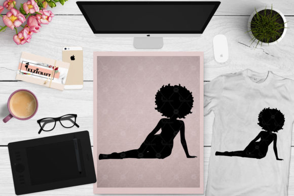 Download Afro Woman Laying Silhouette