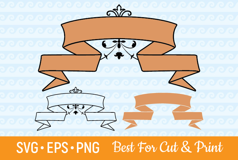 Download Free Banner Ribbon Label Scroll Text Frame Grafico Por Olimpdesign for Cricut Explore, Silhouette and other cutting machines.