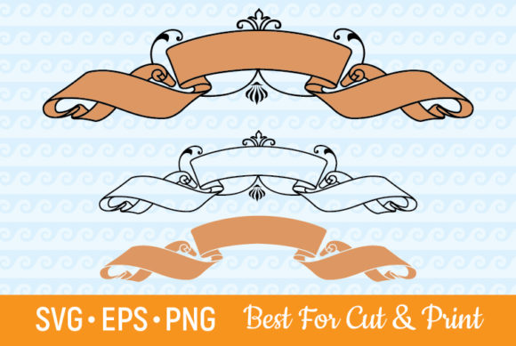 Download Banner Ribbon Label Scroll Text Frame