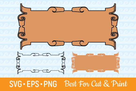 Download Free Banner Ribbon Label Scroll Text Box Graphic By Olimpdesign for Cricut Explore, Silhouette and other cutting machines.